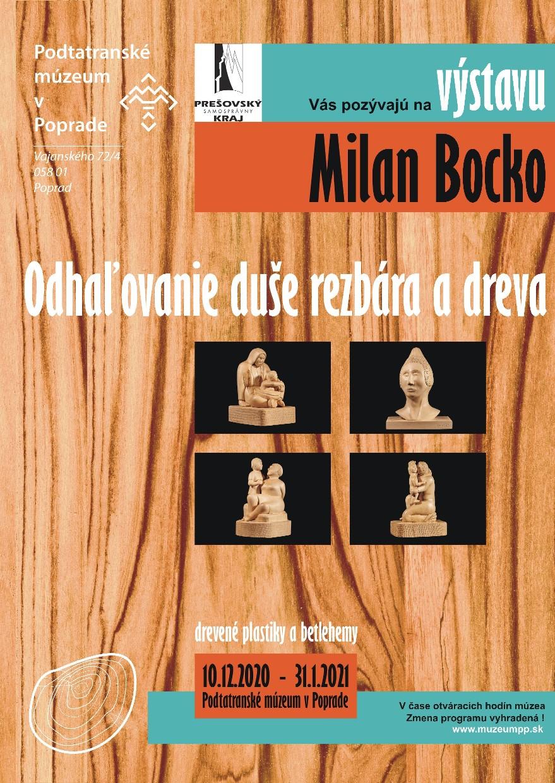 Pozvánka na výstavu betlehemov Milan Bocko