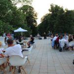 Večerné posedenie na terase Budatínskeho zámku, 27.06.2021