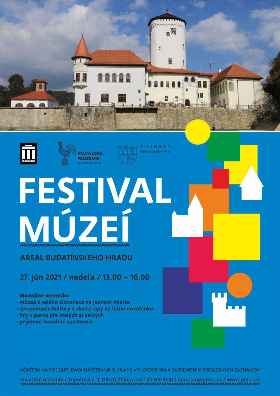 plagát Festival múzeí